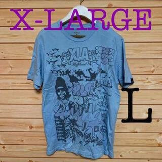 XLARGE - X-LARGE Tシャツ L 水色 希少 エクストララージ