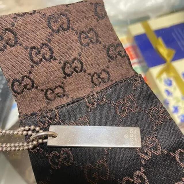 Gucci(グッチ)のGUCCIプレート型ネックレス メンズのアクセサリー(ネックレス)の商品写真