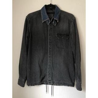 sacai - sacai ダメージ加工 ドッキング デニム シャツ size1ブラック