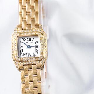 Cartier - 【保証書付】カルティエ パンテール ミニ YG ダイヤ レディース 腕時計