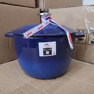 STAUB - STAUB エナメル鍋 ブルー 16cm IH対応 両手鋳物