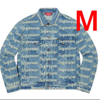 Supreme - supreme frayed logos denim truckerjacket