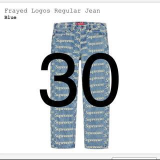 Supreme - Supreme Frayed Logos Regular Jean blue