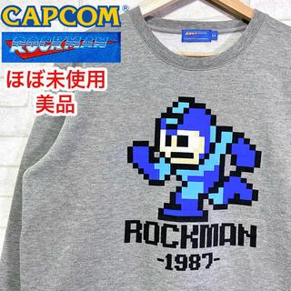 ☆ほぼ未使用☆ ROCKMAN ロックマン ドット絵 クルーネック スウェット