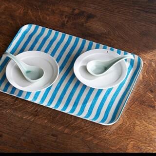 ミナペルホネン(mina perhonen)のfog linen work LINEN COATING TRAY ブルー未開封(収納/キッチン雑貨)