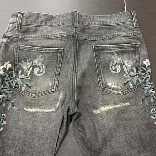DOLCE&GABBANA - 2回 定価12万 ドルチェ&ガッパーナ ジーンズ デニム パンツ 46  刺繍