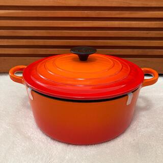 LE CREUSET - ル・クルーゼ ココットロンド 24cm オレンジ
