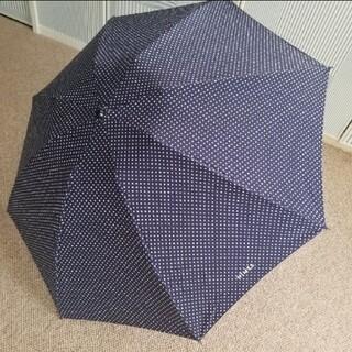 ミナペルホネン(mina perhonen)のNIMESニーム/小さなドットネイビーの晴雨両用折り畳み傘(傘)