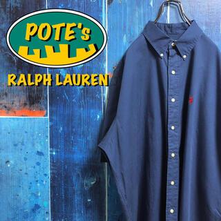 Ralph Lauren - 【ラルフローレン】ワンポイント刺繍ロゴ半袖ビッグチノボタンダウンシャツ 90s