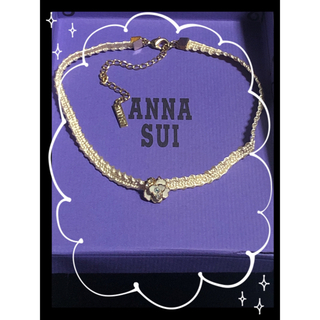ANNA SUI - ANNA SUI🌹シルク薔薇チョーカーネックレス