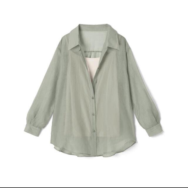 GRL(グレイル)の( ま さん専用 )GRL キャミ付きシアーシャツ (シャツのみ) レディースのトップス(シャツ/ブラウス(長袖/七分))の商品写真