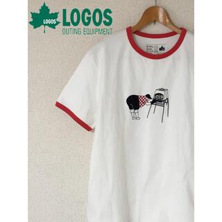 LOGOS - LOGOS ロゴス リンガー リンガーT 赤 レッド 白 ホワイト XL