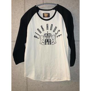 PINK HOUSE - ピンクハウス ラグランカットソー 白黒 キッズのLサイズ tシャツ