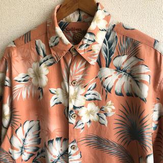 アロハシャツ  シルク55% 総柄シャツ Caribbean(シャツ)