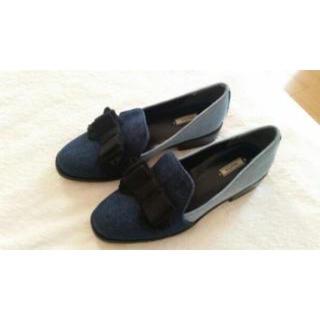 ランダ(RANDA)のRANDA デニムリボンパンプス(ローファー/革靴)