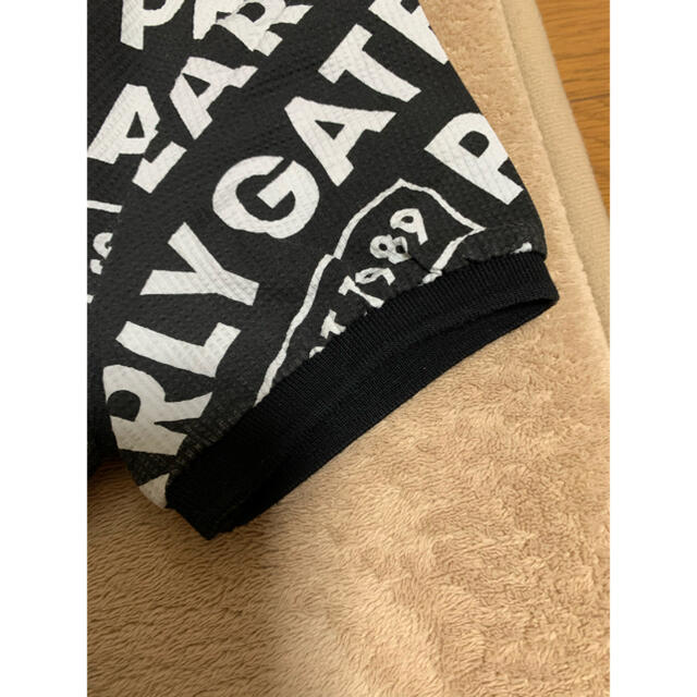 PEARLY GATES(パーリーゲイツ)の専用   パーリーゲイツ 総ロゴポロシャツ スポーツ/アウトドアのゴルフ(ウエア)の商品写真