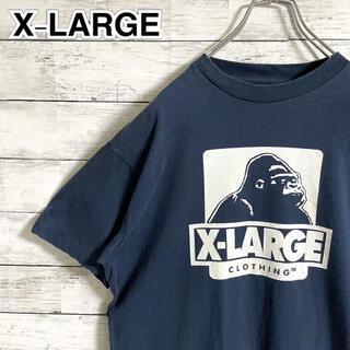 エクストララージ(XLARGE)の【大人気】エクストララージ☆ビッグロゴ ネイビー 半袖Tシャツ(Tシャツ/カットソー(半袖/袖なし))
