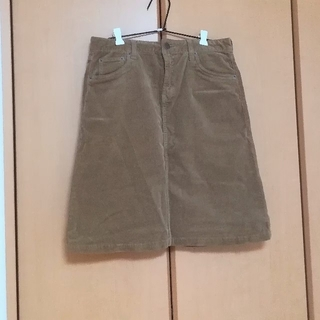 バックナンバー(BACK NUMBER)のベージュのコーデュロイスカート(ひざ丈スカート)