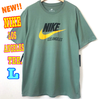 ナイキ(NIKE)のUSモデル ♪ ナイキ ロサンゼルス スウォッシュ ロゴTシャツ L ~ M(Tシャツ/カットソー(半袖/袖なし))