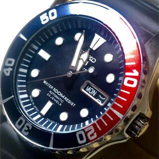 セイコー(SEIKO)の未使用に近いSEIKO 5スポーツdivers 自動巻希少ペプシベゼルjapan(腕時計(アナログ))