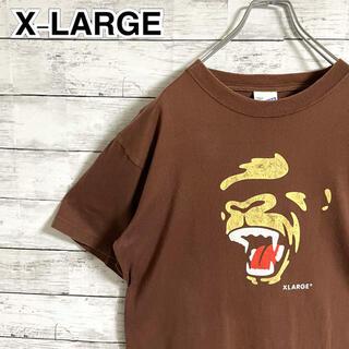 エクストララージ(XLARGE)の【大人気】エクストララージ☆ビッグロゴ ブラウン 半袖Tシャツ(Tシャツ/カットソー(半袖/袖なし))