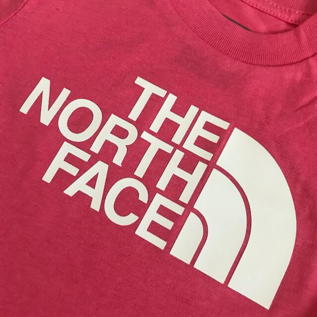 THE NORTH FACE(ザノースフェイス)の【海外限定】ノースフェイス Tシャツ ピンク 80 キッズ/ベビー/マタニティのベビー服(~85cm)(Tシャツ)の商品写真