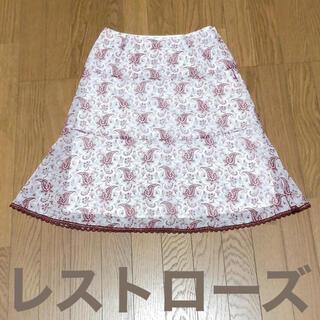 レストローズ(L'EST ROSE)のレストローズ スカート 膝丈 ペイズリー ラエスト 柄スカート 柄物 夏 清涼(ひざ丈スカート)