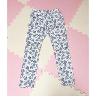 ジーユー(GU)の花柄パンツ レギンス ジーユー パンツ ズボン レディース 花 フラワー(レギンス/スパッツ)