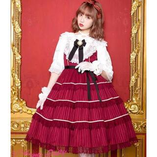 アンジェリックプリティー(Angelic Pretty)のAngelic Pretty Nostalgic Lady JSK ワイン(ひざ丈ワンピース)