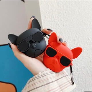 サングラス 犬 AirPodsケース AirPodsPro  カラビナ付き(モバイルケース/カバー)