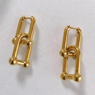 ノーブル(Noble)のSquare chain gold pierce No.190(ピアス)