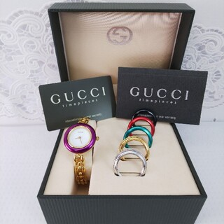 Gucci - GUCCI 腕時計 チェンジベゼル 稼働品 9463476