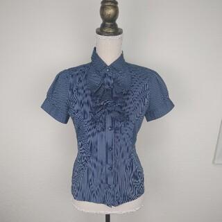 ナラカミーチェ(NARACAMICIE)のナラカミーチェ NARA CAMICIEシャツ ブラウス半袖 フリル付き パ(シャツ/ブラウス(半袖/袖なし))