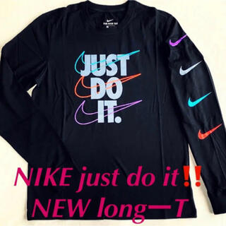 NIKE - ナイキの超人気‼️NIKE just do it longT BLACK L‼️