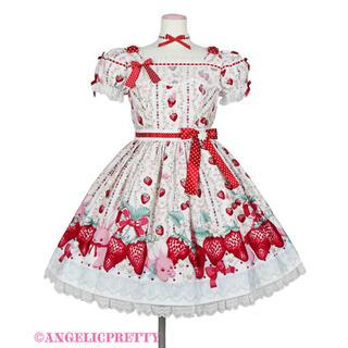 アンジェリックプリティー(Angelic Pretty)のLittle Bunny Strawberryワンピース 白(ひざ丈ワンピース)