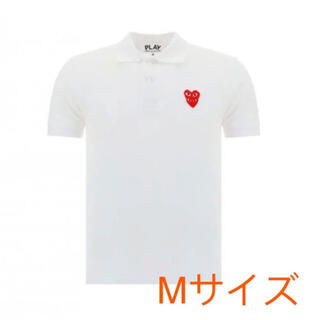 コムデギャルソン(COMME des GARCONS)の【即発】COMME des GARCONS ペアハートロゴ ポロシャツレディース(ポロシャツ)