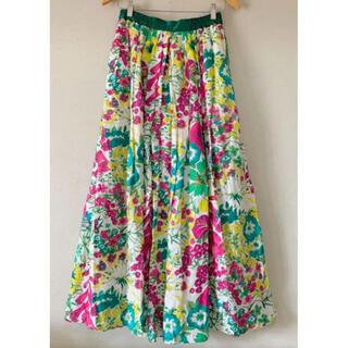 Drawer - 19ss 美品 Drawer  フラワープリントギャザースカート