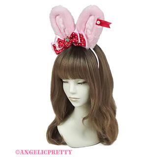 アンジェリックプリティー(Angelic Pretty)のLittle Strawberryリリカルバニーカチューシャ(カチューシャ)