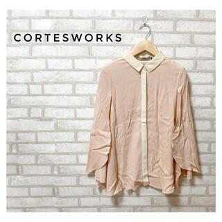 コルテスワークス(CORTES WORKS)のCORTES WORKS レディース ポンチョ ブラウス M ピンク(シャツ/ブラウス(半袖/袖なし))