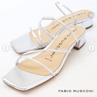 FABIO RUSCONI - ファビオルスコーニ シルバー サンダル