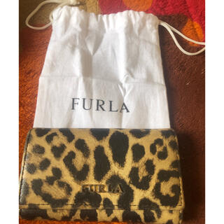 Furla - ★美品★FURLA フルラ 5連キーケース カーアクセサリー 豹柄 保存袋付