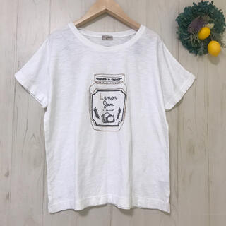 SM2 - SM2レモンジャム柄Tシャツ サマンサモスモス春夏半袖 未使用に近いホワイト白