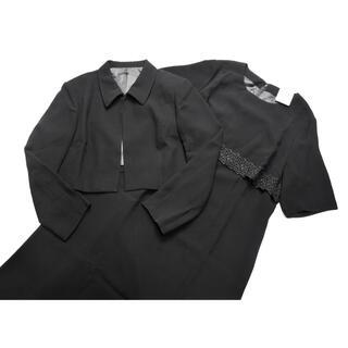 大きいサイズ 17号 新品 ブラックフォーマル ワンピース ウォッシャブル(礼服/喪服)