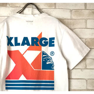 XLARGE - 古着 XLARGE デカロゴ  ゴリラ白Tシャツ