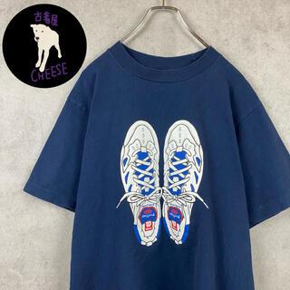 wilson - 【希少】90s Tシャツ ウィルソン デカロゴ プリントロゴ バックプリント 紺