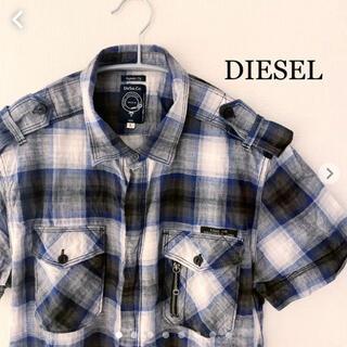 ディーゼル(DIESEL)のDIESEL ディーゼル 半袖 チェックシャツ Lサイズ (シャツ)