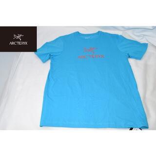 アークテリクス(ARC'TERYX)の新品☆アークテリクス Tシャツ フロントロゴ☆ブルー☆Mサイズ(Tシャツ/カットソー(半袖/袖なし))