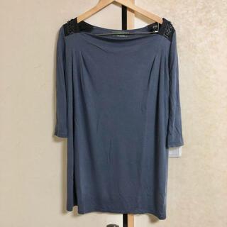 ナノユニバース(nano・universe)のnano・universe ナノユニバース ロンT Tシャツ ブルー 青 紺(Tシャツ(長袖/七分))