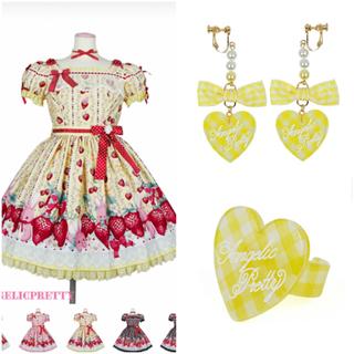 Angelic Pretty - 新品☆ Little Bunny Strawberryワンピース3点セット