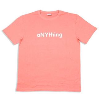 エニシング(aNYthing)のaNYthing LABEL LOGO TEE (PINK)☆(Tシャツ/カットソー(半袖/袖なし))